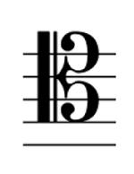 ヘ音記号と、ト音記号と、テノール記号