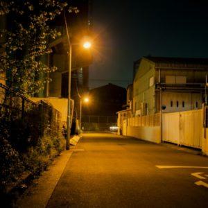 夜中の工事