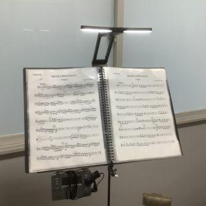 譜面台用のライト 🌞