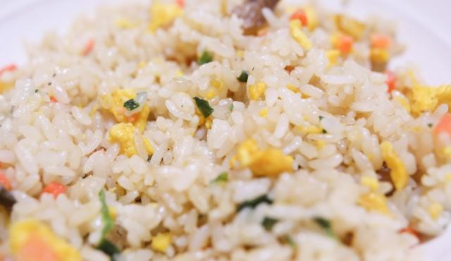 焼き飯と納豆😲
