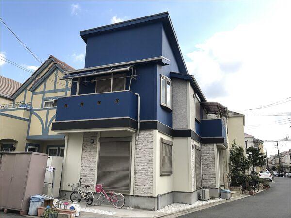 大正区 外壁塗装 施工例(T様邸)